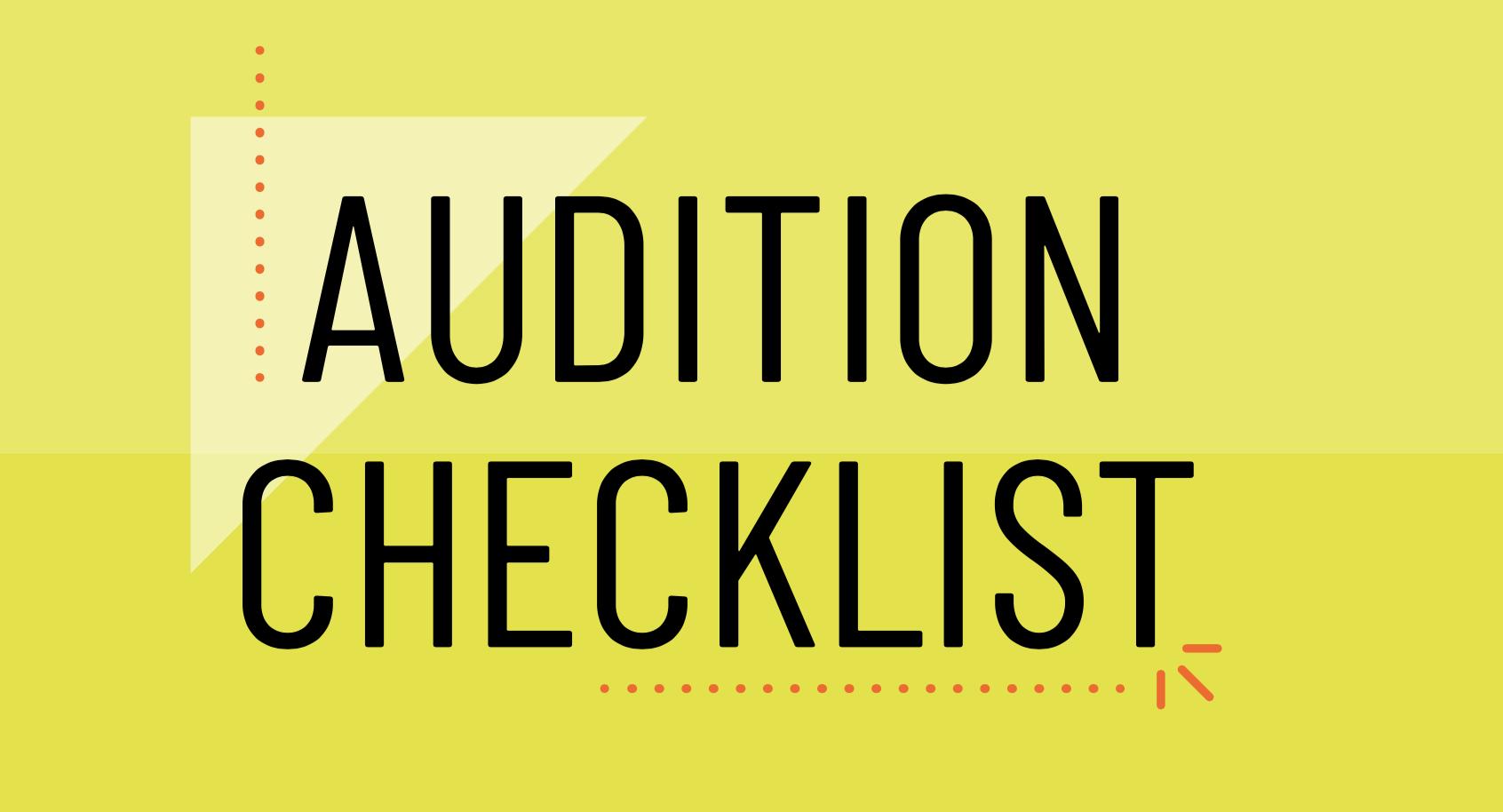 Audition Checklist Thrivebox Header