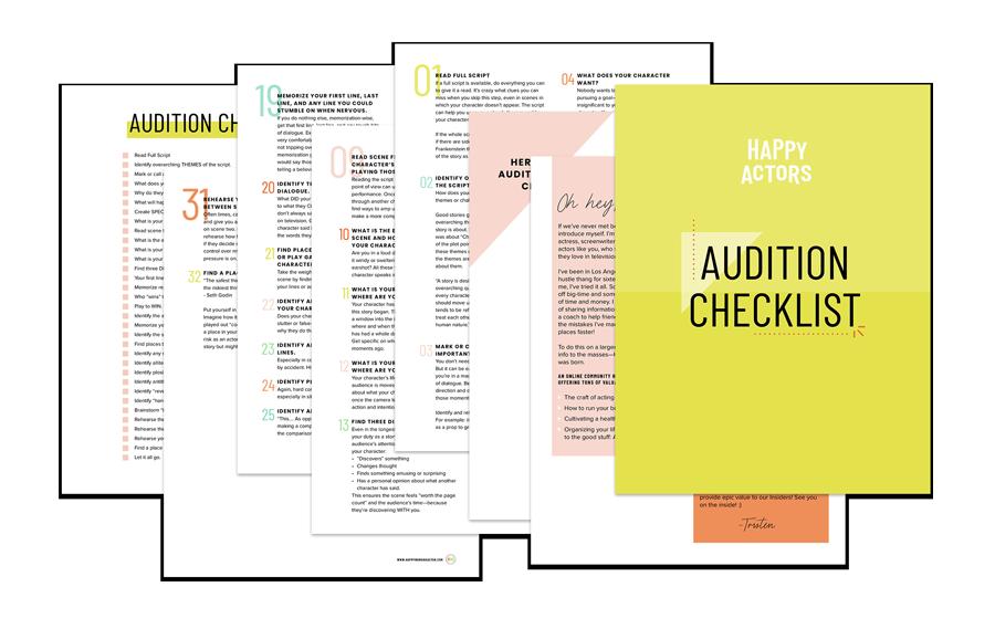 Audition Checklist